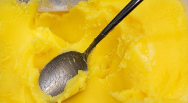 Closeup of ghee butter - famous cooking ingredient and element of the keto diet. (Studio Dagdagaz / Adobe stock)