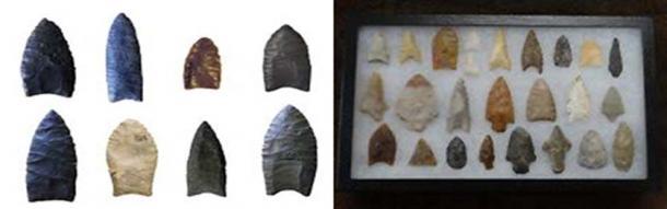 Examples of Clovis & Folsom Points.  (Wikimedia Commons)
