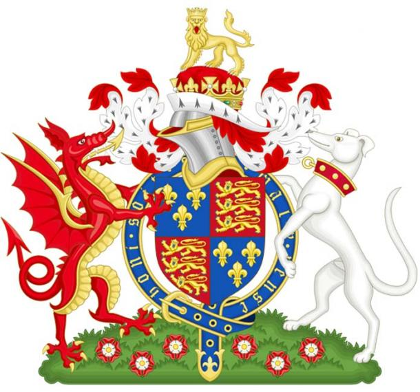 Coat of Arms of King Henry VII of England, the founder of the House of Tudor. (Wereldburger758 / CC BY-SA 3.0)