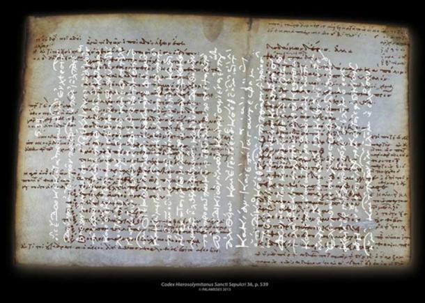 Codex Hierosolymitanus Sancti Sepulcri 36, p. 539