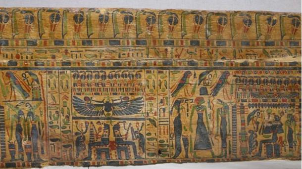 Coffin Panel with Paintings of Funerary Scenes