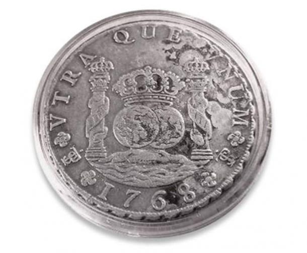 Coin minted from the silver of Potosi, 1768.
