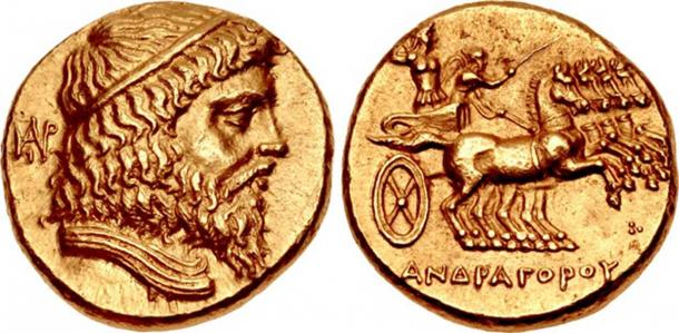 Coin of Andragoras, a Seleucid satrap of Parthia and later independent ruler of the region. (Classical Numismatic Group, Inc/CC BY SA 3.0)