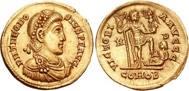 Coin of Theodosius I.