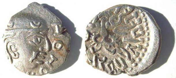 Coin of the Gupta king Kumara Gupta I.