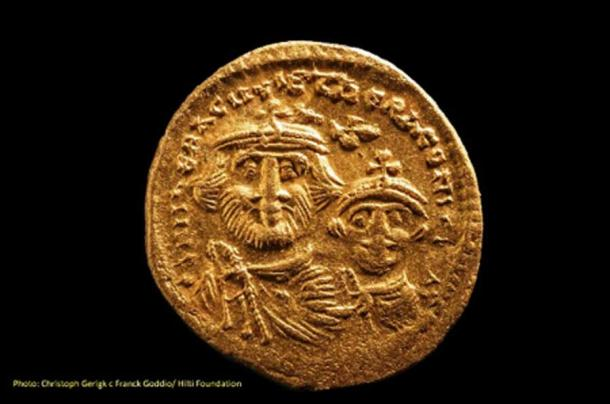 Coin recovered from the site. (Christoph Gerigk - Frank Goddio/ Hilti Foundation/ Egyptian Antiquities Authority)