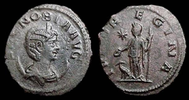 Coins depicting Zenobia