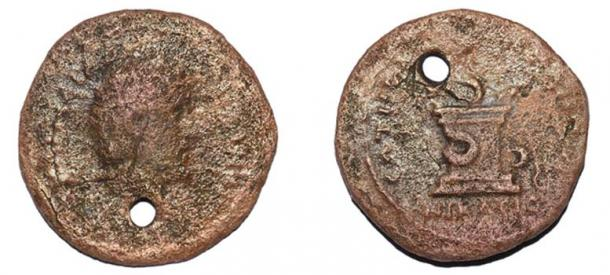 Coins from the reign of Emperor Antoninus Pius (AD 138-161) recovered from the site. (Mustafa Şahin/Lake Iznik Excavation Archive)