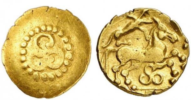 Coins from the mint of the Treveri with the depiction of the triskele (Photo by Kuenker)
