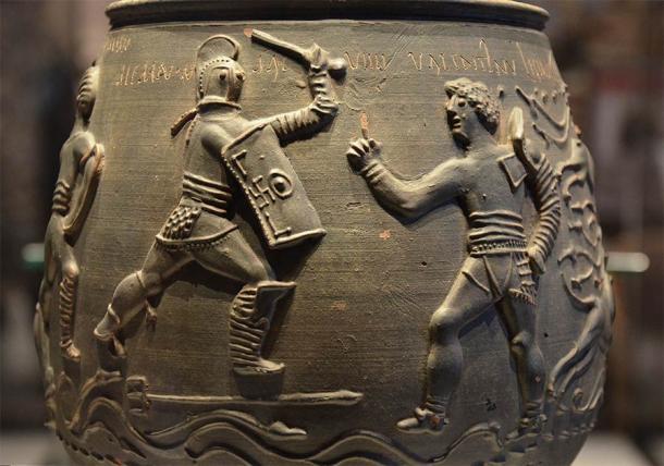 """Urna funeraria de época romana """"El florero de Colchester """" (CC BY-SA 2.0)"""
