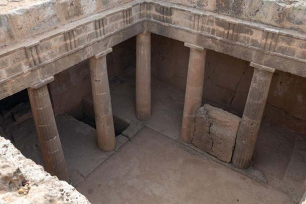 Colonnaded tomb complex at Tombs of the Kings.