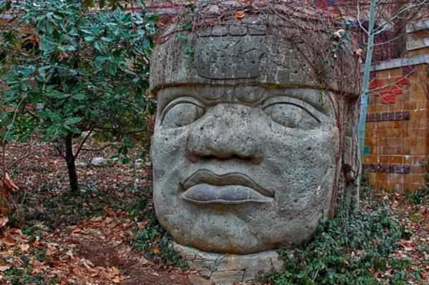 Colossal stone head of the Olmecs. (BigStockPhoto) The Chontal claimed that they were descendants of the Olmecs or Xi people.