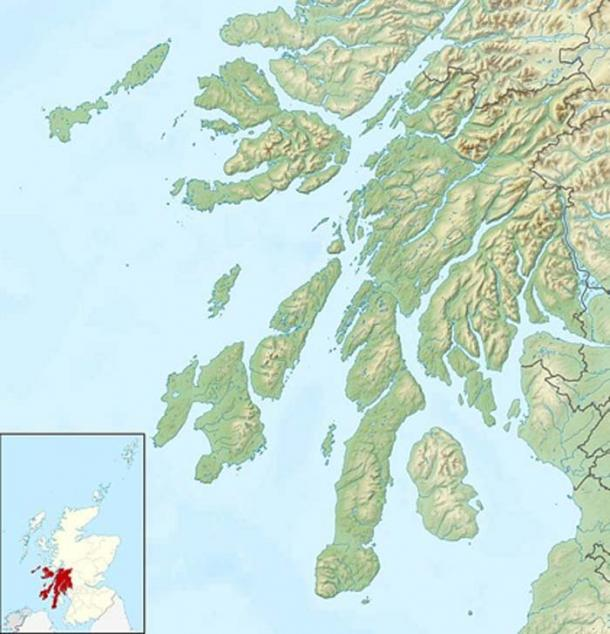 Columba's Isle, is Iona, a small island in the Inner Hebrides off the Ross of Mull on the western coast of Scotland (Public Domain)