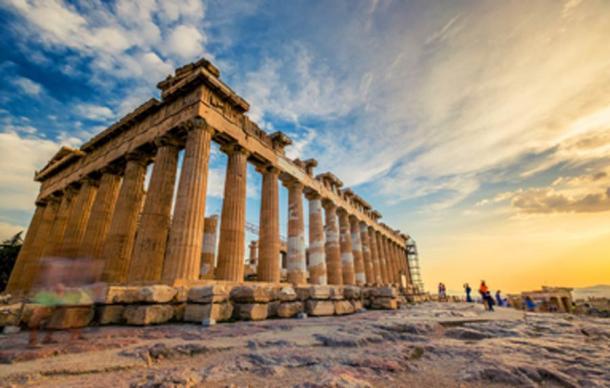 Columns of the Parthenon at the Athens Acropolis. (Alex Green / Adobe Stock)