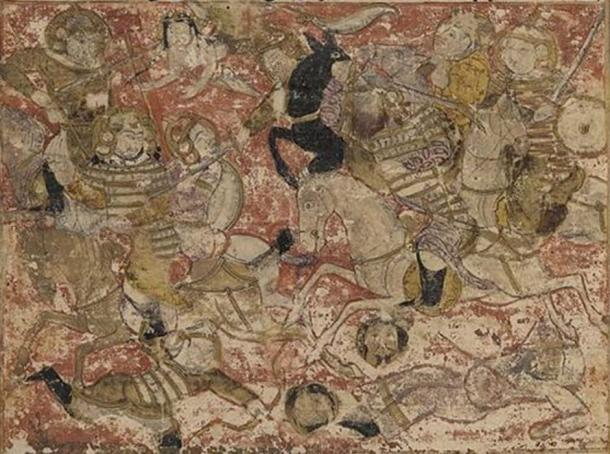 Combat between the forces of Ali and Muawiyah I during the Battle of Siffin, from the Tarikhnama. (Public Domain)