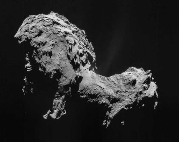 Comet Churyumov–Gerasimenko in September 2014 as imaged by Rosetta.