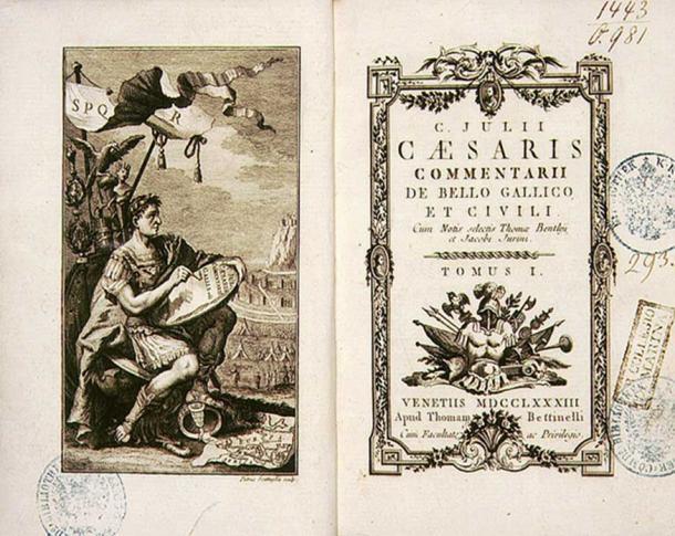 Commentarii de Bello Gallico, an account written by Julius Caesar about war in Gaul.