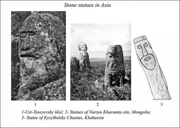 Comparing Ust-Taseyevsky stone idol to other stone statues in Asia.