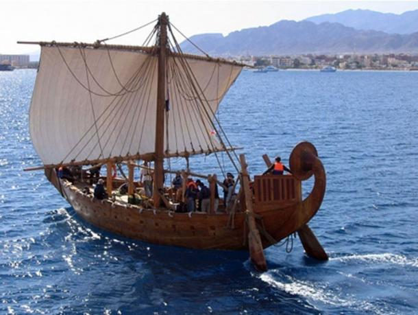 Completed in 2008, the Min of the Desert is a replica of an Egyptian seafaring ship that sailed the Red Sea to Punt 3,800 years ago under Queen Hatshepsut. (Boston University Arts & Sciences)