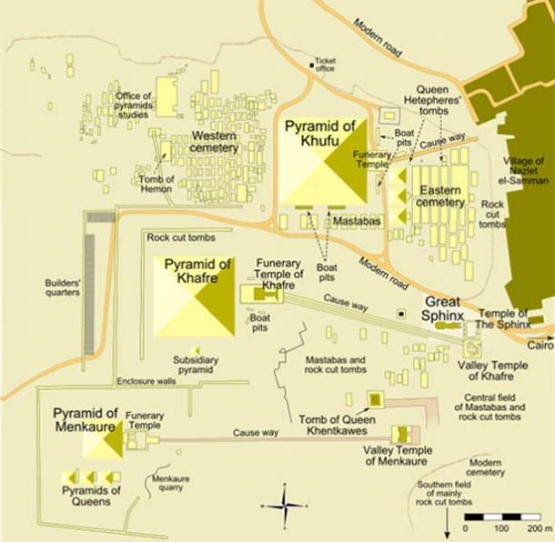 The Giza Pyramid Complex map