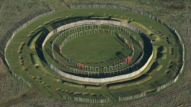 Concentric circles of posts and ditches at Pömmelte, Germany, are part of a reconstruction of a prehistoric ritual site. (Jens Wolf/picture alliance/dpa)