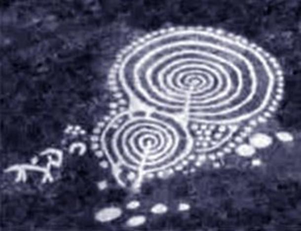 Concentric circles rock art