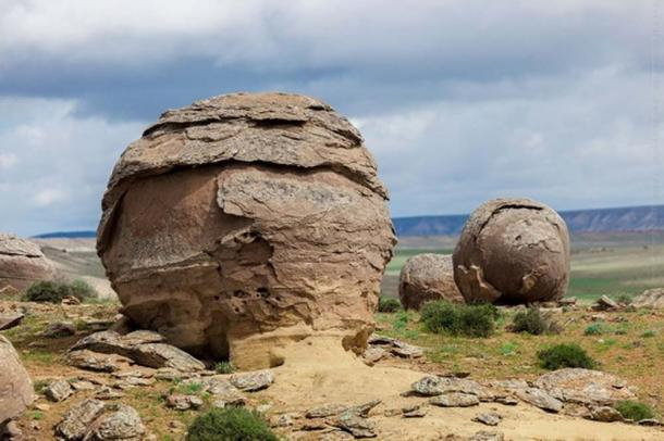 Concretions in Torysh Valley, Kazakhstan
