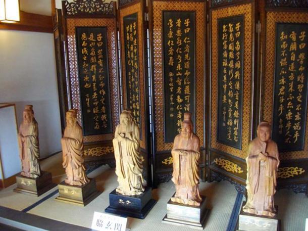 Famous Confucian Statue of the Ashikaga Gakko.