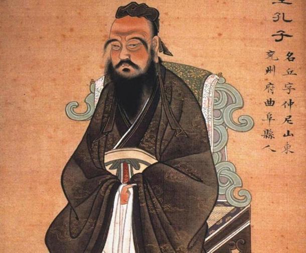 Painting of Confucius. Circa 1770.