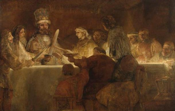 'The Conspiracy of the Batavians under Claudius Civilis' (1661-1662) by Rembrandt.