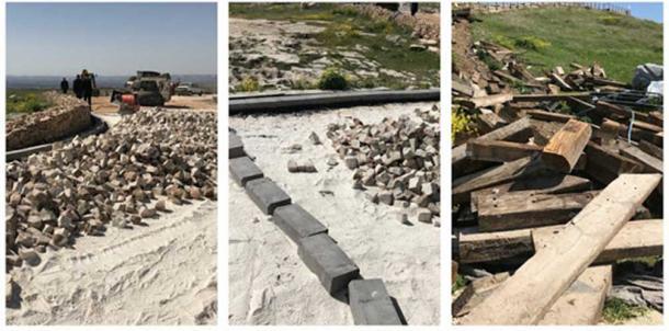 Construction work being undertaken at Gobekli Tepe. Credit: Çiğdem Köksal Schmidt