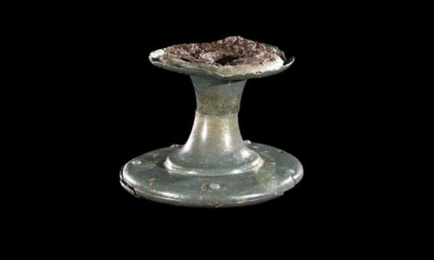 Copper alloy horn-cap ULAS. (Image: University of Leicester)