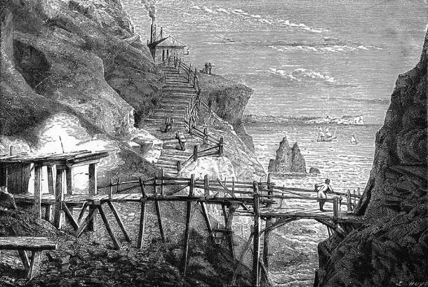 Copper and tin mine Botallack St Just Cornwall, 1869 (Archivist / Adobe Stock)