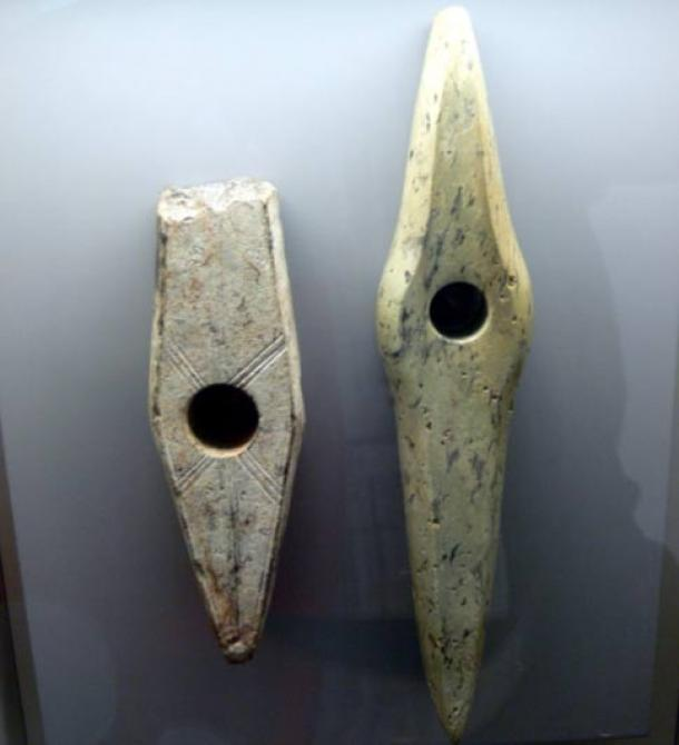 Corded ware culture stone axe heads from 2,500 B.C. in Austria