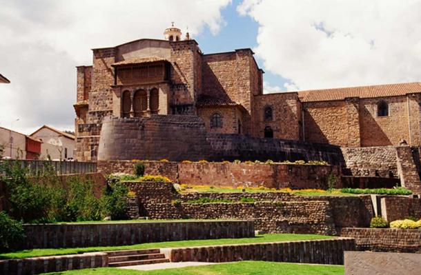 Coricancha, the Temple of the Sun, was destroyed by the conquistadors and used to build a church. The original Inca stones can still be seen at the base of the church.
