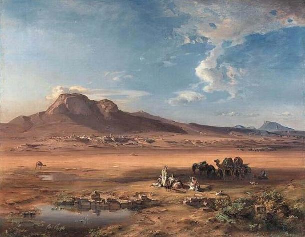 Corinth with Akrocorinth (1847) by Carl Rottman.