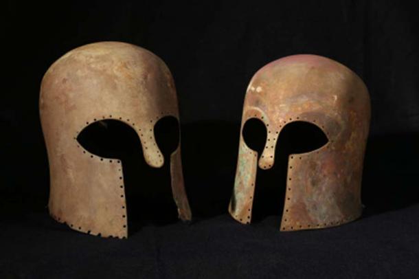 The Corinthian helmets.