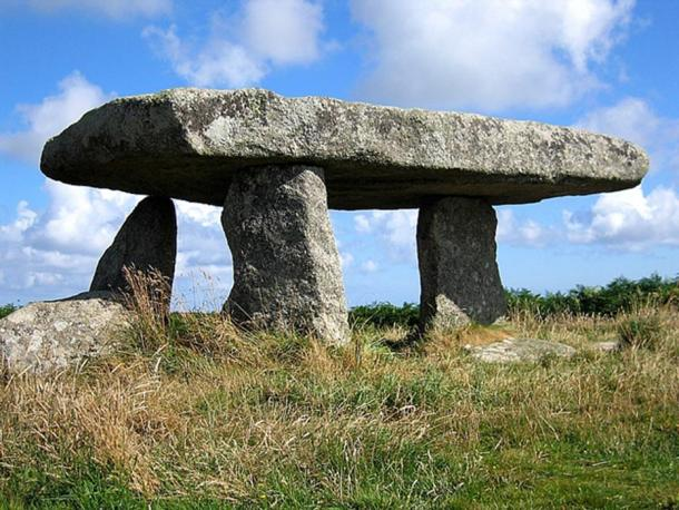 The Cornish landscape is dotted with ancient megalithic structures like this Lanyon Quoit Megalith