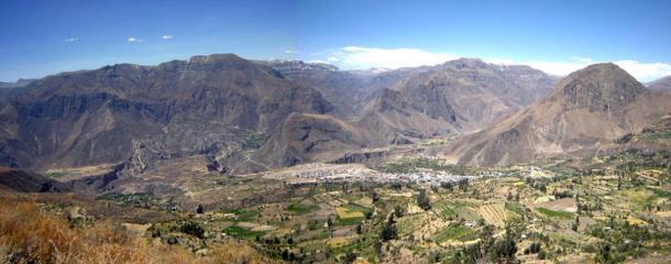 The Cotahuasi landscape in Peru