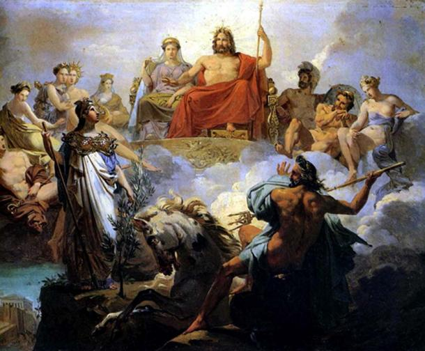 The Council of Gods in Olympus