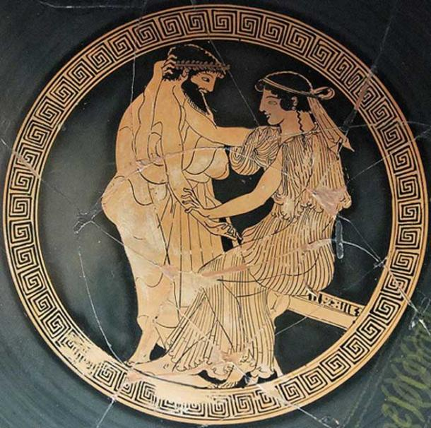 Courtship, Attic red-figure cup from Vulci