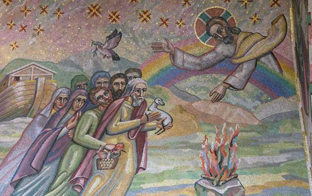 Covenant with Noah. Mosaic by Boris Anrep from the Blessed Sacrament chapel of Westminster Cathedral, London. (CC BY-NC-ND 2.0)