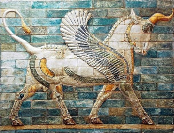 Created around 510 BC. Winged Unicorn at the Palace of Darius in Susa, Iran. On display at the Louvre, Paris. (Amir El Mander/CC BY SA 4.0)