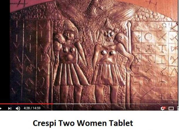 Crespi Two women tablet (Youtube Screenshot, Author provided)