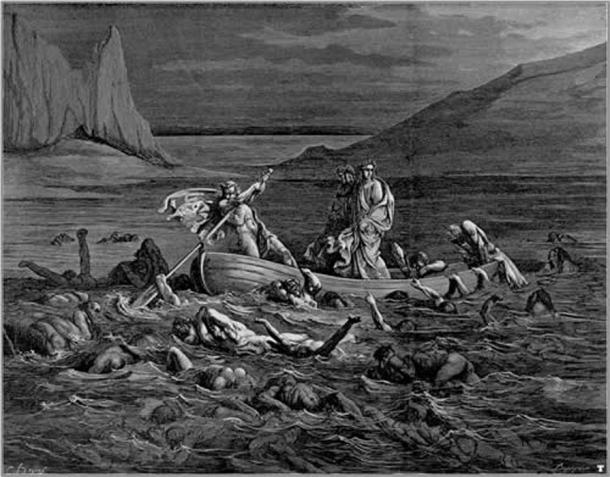 Crossing the Styx, illustration by Gustave Doré, 1861.