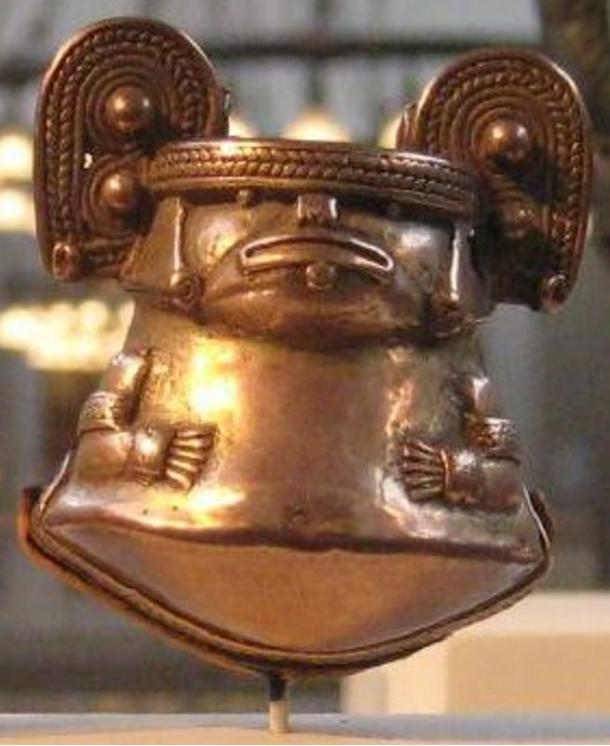 Crotal bell, tumbaga, Tayrona culture, 1000-1500 A.D., Metropolitan Museum of Art, New York. 2010.