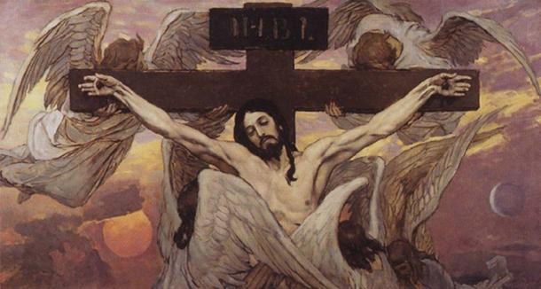 Crucifixion of Christ. Victor Vasnetsov (1885-1926).