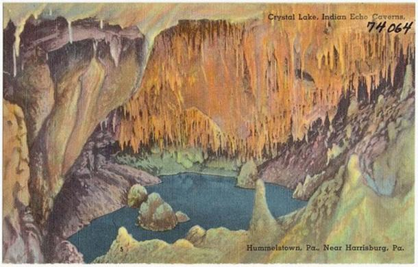 Crystal lake, Indian Echo Caverns, Hummelstown, Pa., near Harrisburg, Pa. postcard