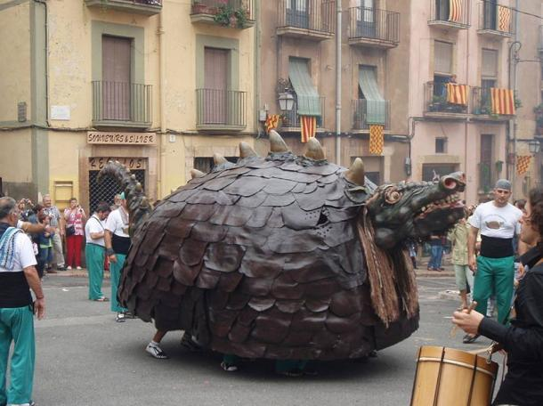 "Cucafera during the ""Fiesta Mayor de Santa Tecla"" in Tarragona, Spain."