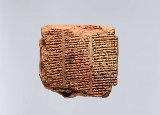 Cuneiform tablet with a list of magical stones.